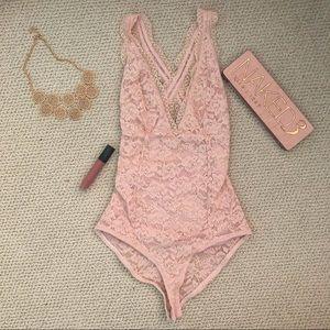 Strappy Lace Bodysuit